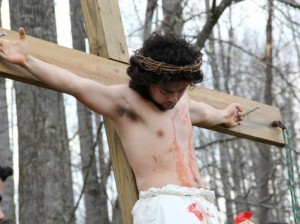 youth group Jesus Dies on Cross